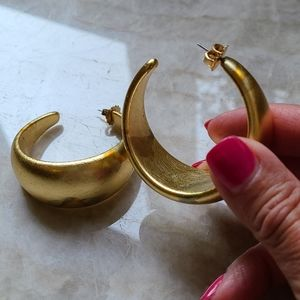 Costume Gold Hoops & Button style